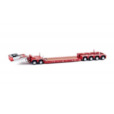 Marge Models 2011-01 - Red Nooteboom EURO-PX 2+4 Low Loader Trailer with Interdolly - Scale 1:32