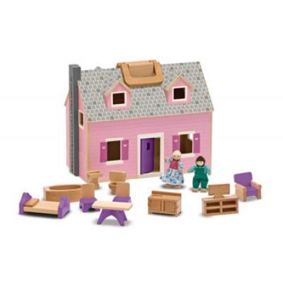 Melissa & Doug 3701 - Fold & Go Wooden Doll House