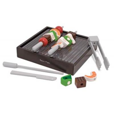 Melissa & Doug 4024 - Wooden BBQ Grill Set