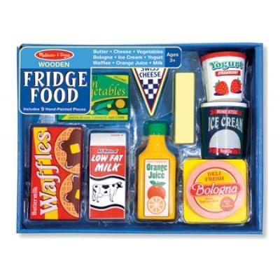 Melissa & Doug 4076 - Wooden Fridge Food Set