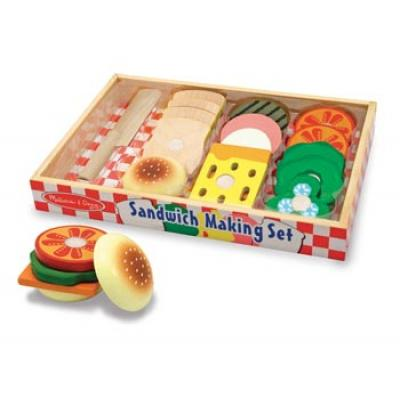 Melissa & Doug 513 - Sandwich Making Set - 17 Pieces