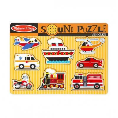 Melissa & Doug - Wooden Sound Puzzle Vehiles