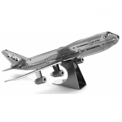Metal Earth - Boeing 747 Jet Airplane - 3D Laser Cut Construction Model