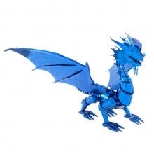 Metal Earth 3D ICONX Laser Cut DIY Model KIT Blue Dragon