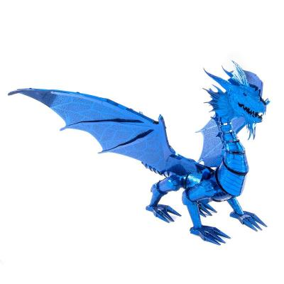 Metal Earth 3D ICONX Laser Cut DIY Model KIT Blue Dragon