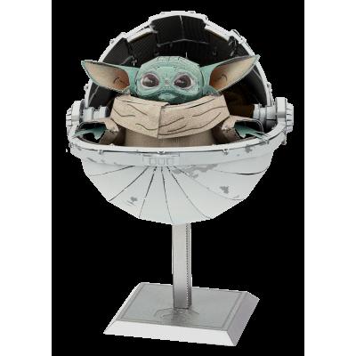 Metal Earth 3D ICONX Laser Cut DIY Model KIT Mandalorian Grogu The Child Premium Series - Star Wars