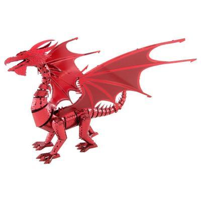 Metal Earth 3D ICONX Laser Cut Model ICONX Red Dragon DIY KIT