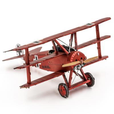 Metal Earth 3D Laser Cut Model Construction Kit Fokker Dr.I Tri Plane WW I  - Scale 1:70
