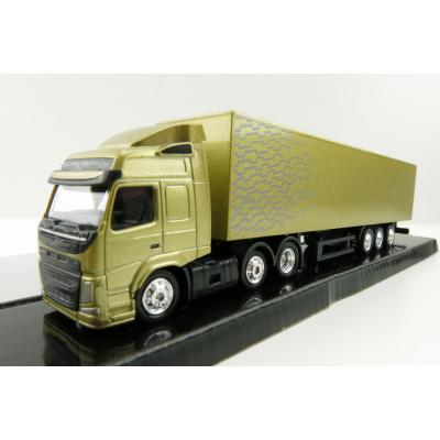 Motorart 300042 - Volvo FM 6x2 truck with Box Trailer Gold - Scale 1:87