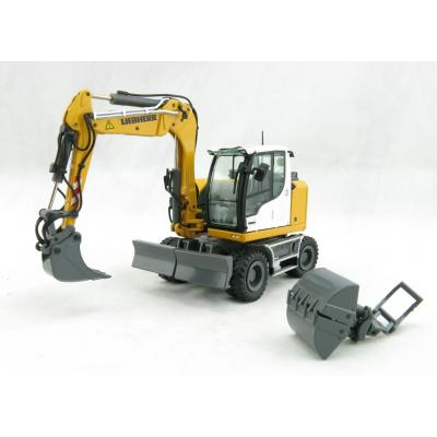NZG 1000 LIEBHERR A910 COMPACT LITRONIC Hydraulic Mobile Wheeled Excavator - Scale 1:50