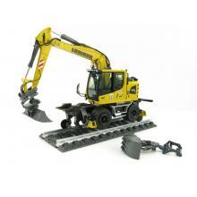 NZG 1011 Liebherr A922 Rail Litronic Two-Way Hydraulic Mobile Wheeled Excavator New 2021 - Scale 1:50