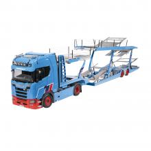 NZG 1026/01 - Scania V8 730S 4x2 Prime Mover with Lohr Car Transporter MOSOLF New 2021 - Scale 1:18