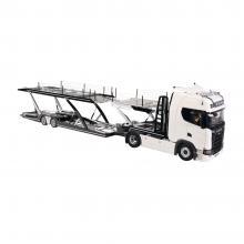 NZG 1026/40 - Scania V8 730S 4x2 Prime Mover White with Lohr Car Transporter Black New 2021 - Scale 1:18