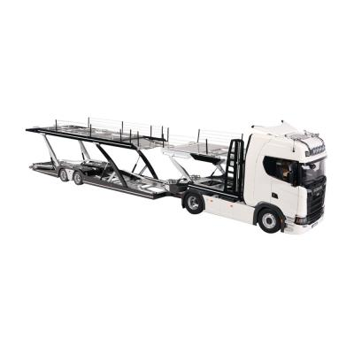 NZG 1026/40 - Scania V8 730S 4x2 Prime Mover White with Lohr Car Transporter Black New 2021 - Scale 1:18