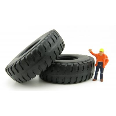 NZG 400/12 2 piece Mining Truck Tyres Set CAT Truck Load  - Scale 1:50