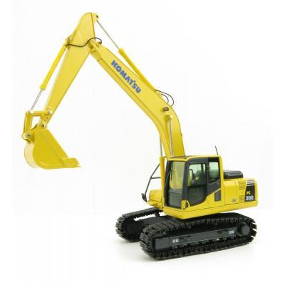NZG 804 Komatsu PC200-8 Hydraulic Mobile Tracked Excavator - Scale 1:50