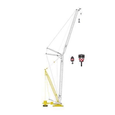 NZG 843/09 Large LIEBHERR LR1600/2 + DERRICK Crawler Crane Mediaco - Scale 1:50