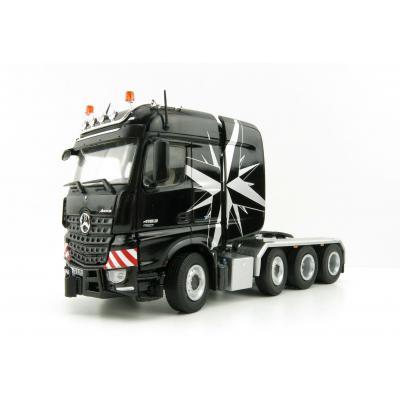 NZG 9371/50 Mercedes Benz Actros Big Space SLT 8x4 Heavy Haulage Prime Mover Black - Scale 1:50