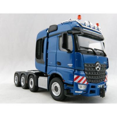 NZG 937/20 Mercedes Benz Actros Big Space SLT 8x4 Heavy Haulage Prime Mover Blue - Scale 1:50