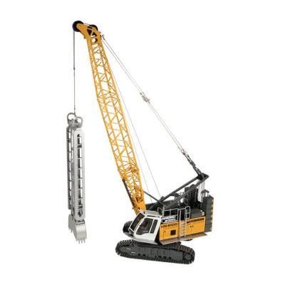 NZG 945 LIEBHERR HS 8100 HD Litronic Hydraulic crawler crane with Wall Grab & Dragline Bucket - Scale 1:50