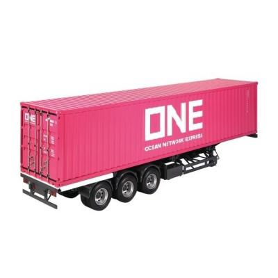 NZG 9791/02 Container Trailer International Twin Tyres with ONE 40ft Sea Container - Scale 1:18