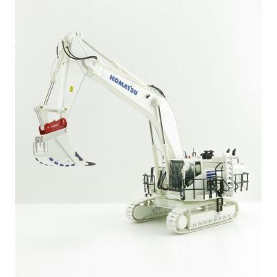 NZG 9992/01 - Komatsu PC 1250 LC-11 Tracked Excavator with Lehnhoff Quickcoupler & Equipment White 1:50