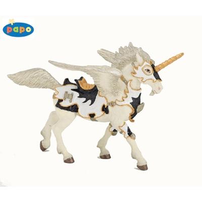 Papo 38829 - Black and white unicorn pegasus