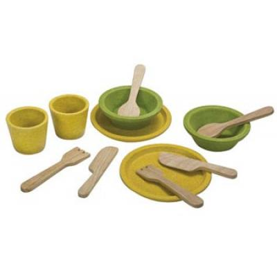 PlanToys 3605 - Wooden Tableware Set