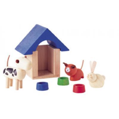 PlanToys 7314 - Wooden Pets & Accessories