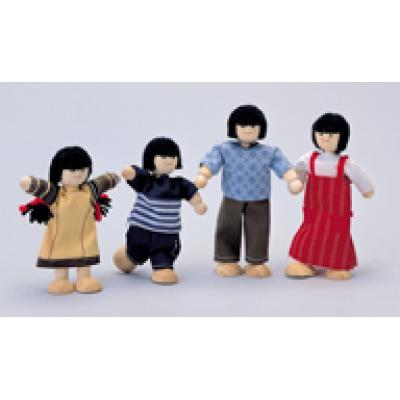 Plan Toys 7417 - Asian Doll Family