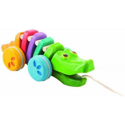 Plan Toys 1416 - Dancing Rainbow Alligator