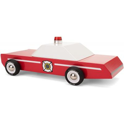 Candylab Toys - Firechief Wooden Fire Department Chief Car