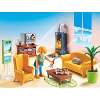 Playmobil 5308 - Living Room With Fireplace - Dollhouse