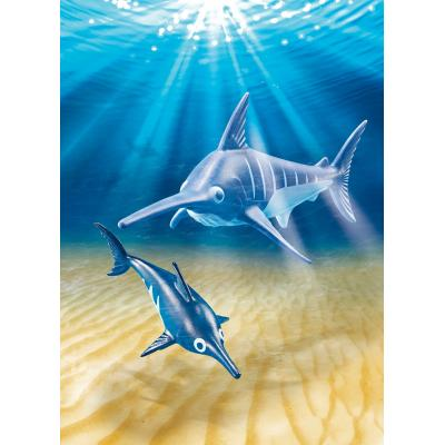 Playmobil 9068 - Sea Aquarium Swordfish with Baby
