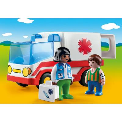 Playmobil 9122 - 1.2.3 Rescue Ambulance Truck