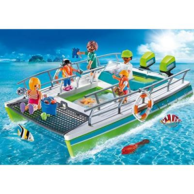 Playmobil 9233 Glass Bottom Boat With Underwater Motor - Sports & Action