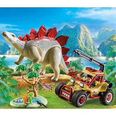 Playmobil 9432 Explorer Vehicle With Stegosaurus - The Explorers