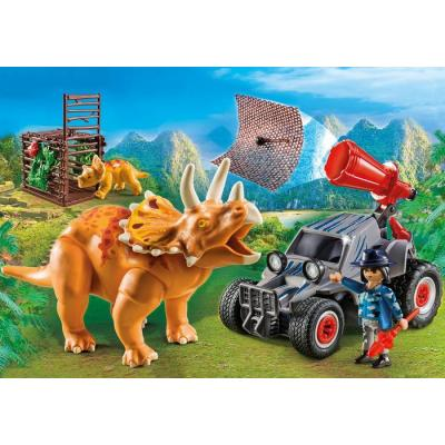 Playmobil 9434 Dino's Enemy Quad with Triceratops - The Explorers