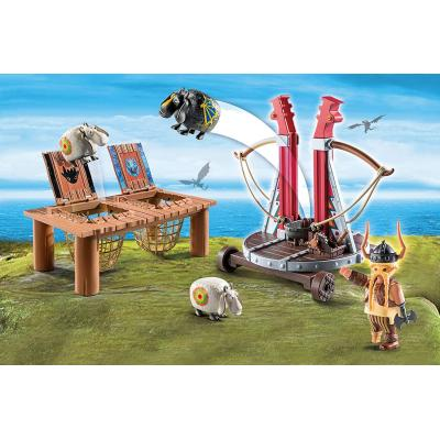 Playmobil 9461 - Gobber the Belch with Sheep Sling Launcher - Dragons