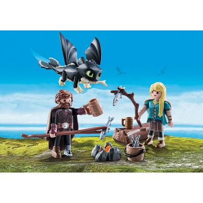 Playmobil 70040 - Hiccup and Astrid with Baby Dragon - Dragons 3