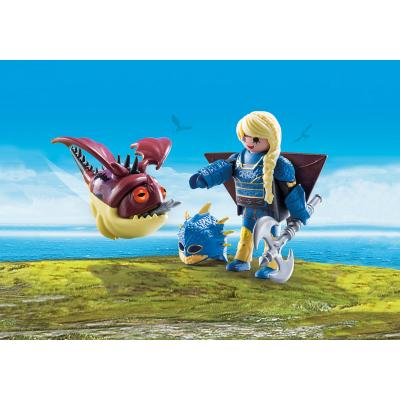 Playmobil 70041 - Astrid with Hobgobbler - Dragons
