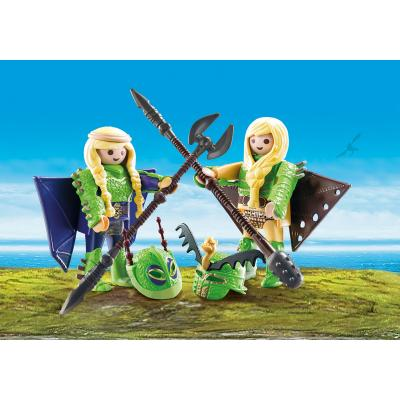 Playmobil 70042 - Raffnut and Taffnut with Flight Suit - Dragons