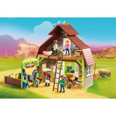 Playmobil 70118 - Barn with Lucky, Pru & Abigail - Spirit - Riding Free