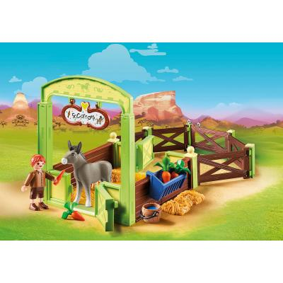 Playmobil 70120 - Snips & Senor Carrots with Horse Stall - Spirit - Riding Free