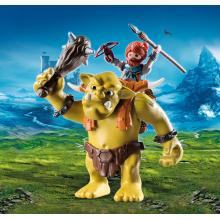 Playmobil 9343 - Giant Troll with Dwarf Fighter - Knights