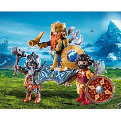 Playmobil 9344 - Dwarf King with Guards - Knights