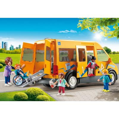 Playmobil 9419 - School Van with Folding Ramp - City Life