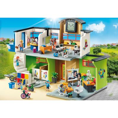 Playmobil 9453 - Furnished School Building Fully Integrated - City Life