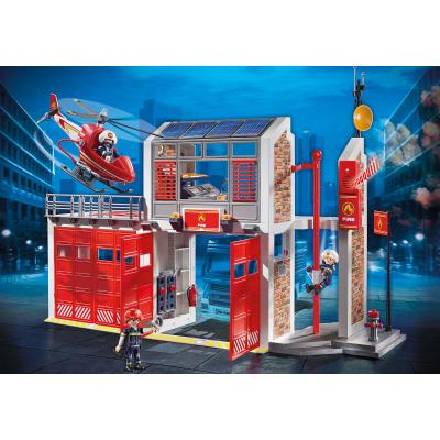 Playmobil 9462 Fire Station with Helicopter City Action