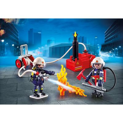 Playmobil 9468 Firefighters with Water Pump City Action